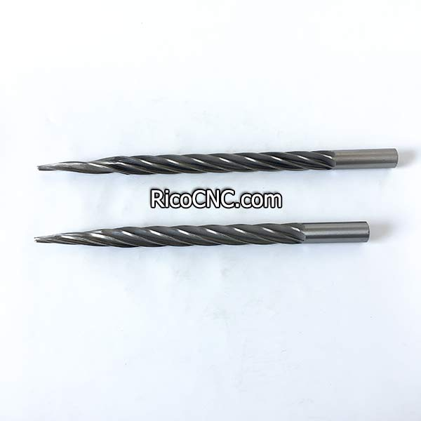 Ball End Tapered Foam Cutting Tool Conical Taper Milling Bits for EPS Foam Carving