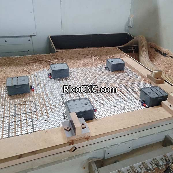 Flat Grid Table Vacuum Cups for Woodworking Matrix Table CNC Routers