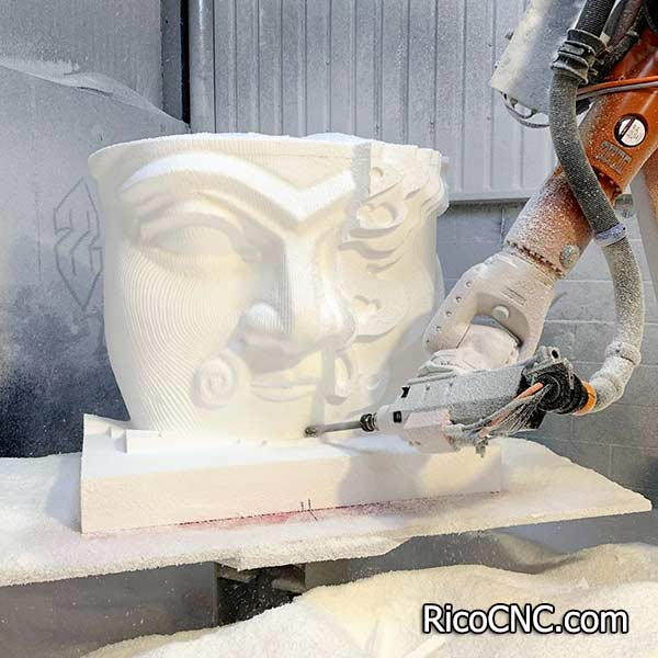 Ballnose Foam Mills Longer Styrofoam Milling Tool for Robot CNC