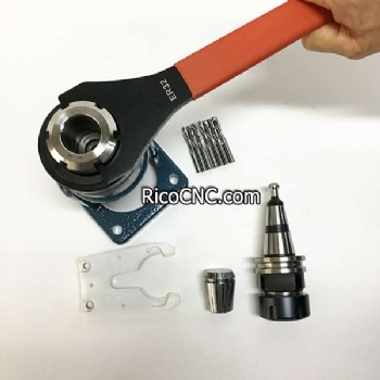 ISO30 HSK50 Tool Holder Clamping Stand Roller Bearing Tool Lock Seat