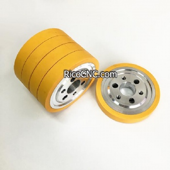 Standard Rubber Feed Rollers 140 Dia 35 Bore 25mm Wide for Woodworking Planer Moulders